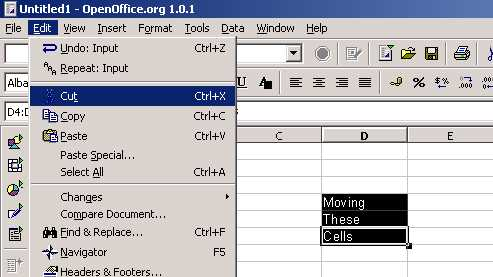 OpenOffice org Calc Tutorial - Copying & Moving Cells