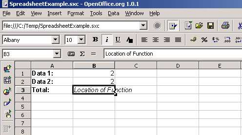 OpenOffice org Calc Tutorial - Functions