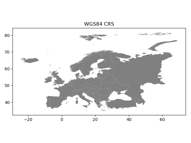 Map projections — Geospatial Analysis with Python and R